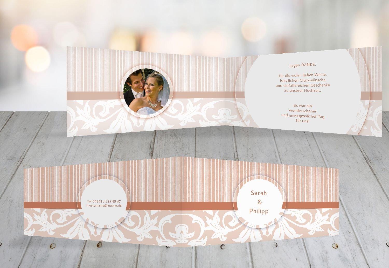 Kartenparadies Danksagung für Hochzeitsgeschenke Hochzeit Dankeskarte Streifenzauber, hochwertige Danksagungskarte Hochzeitsglückwünsche inklusive Umschläge   20 Karten - (Format  215x105 mm) Farbe  champagner B01N5RUZ76   Lebendige Fo