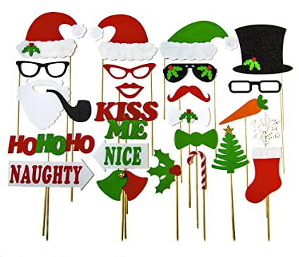 christmas photo booth props holiday photo booth featuring santa clause frosty snowman naughty nice style