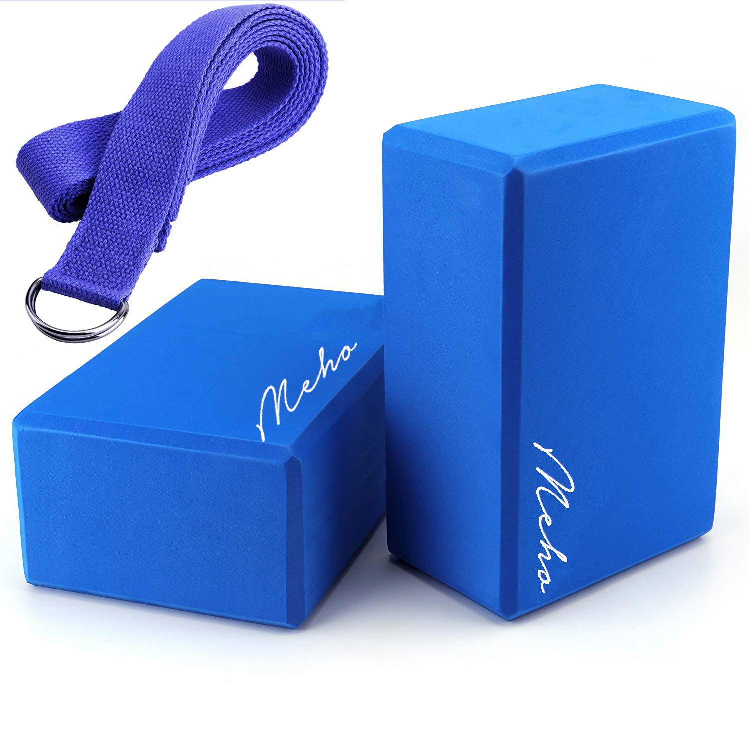 Meho Yoga Block 2 Pack EVA Foam Blocks Support Poses Body Trainning - Set of 2-9x6x4 Inch