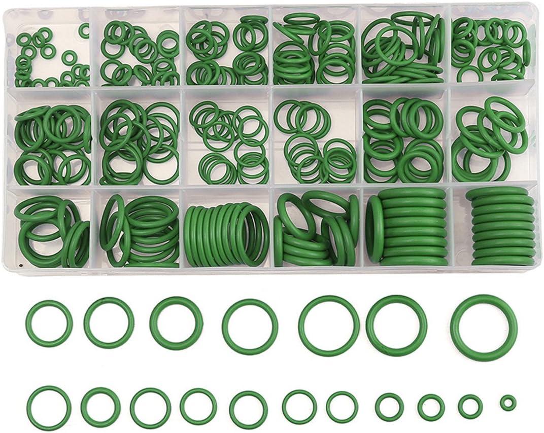 Keenso Joints Assortiment Kit 18 Tailles en Caoutchouc R/éparation de V/éhicule Climatisation HNBR Coffret de Joints Toriques 270 Pi/èces
