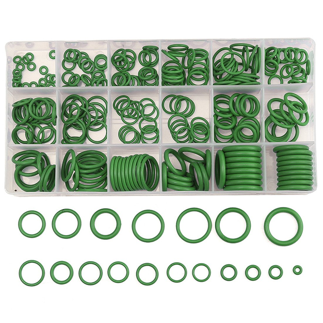 FEZZ 270pcs Rubber O Ring Sealing Gasket Car Auto Repair Tools Air Conditioning Refrigerant Ring Washer Seal Assortment Set for plumbing