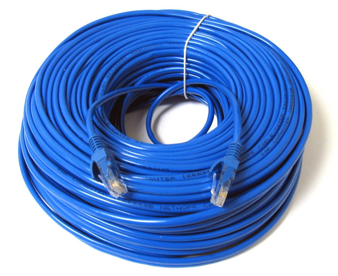 Konex (TM) Ethernet Cable Cat6 100ft Blue, Network Cable Wire Cat 6 Ethernet Patch Cable Cord, Internet Cable With Snagless RJ45 Connectors - 100 Feet Blue DIGIPARTS 10-062