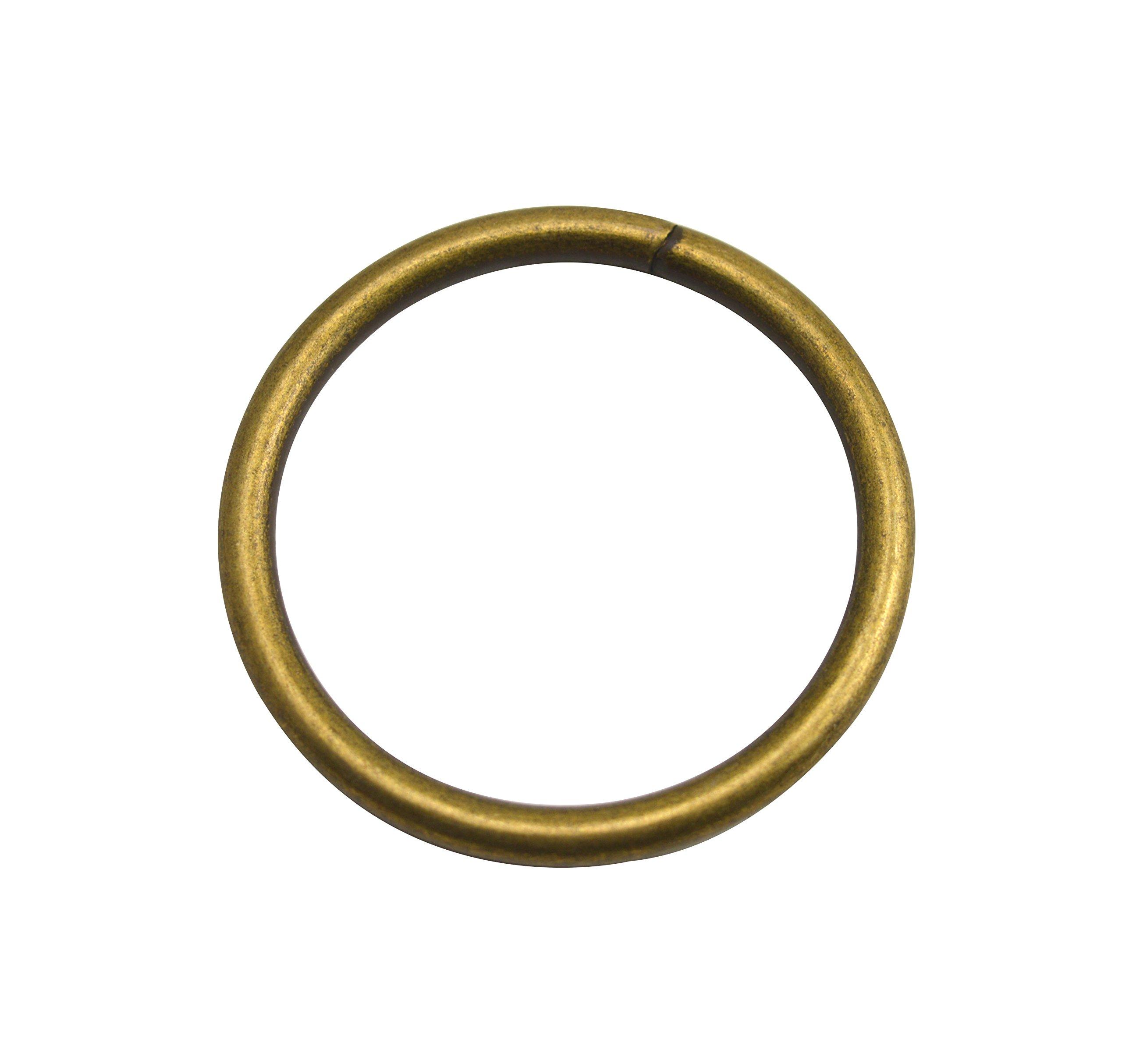 Wuuycoky Bronze 2.5'' Inner Diameter O-Rings Rings Non Welded Strap Adjuster Webbing Belts Buckle Pack of 10