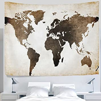 Amazon alaza antique old fashioned retro vintage world map alaza antique old fashioned retro vintage world map tapestry wall hanging artistic light weight gumiabroncs Gallery