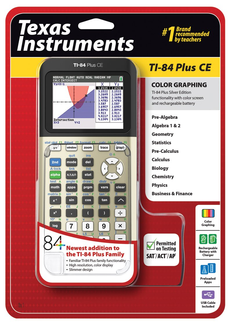 Texas Instruments TI84PLSCEGOLD TI-84 Plus CE Graphing Calculator, Gold by Texas Instruments (Image #4)