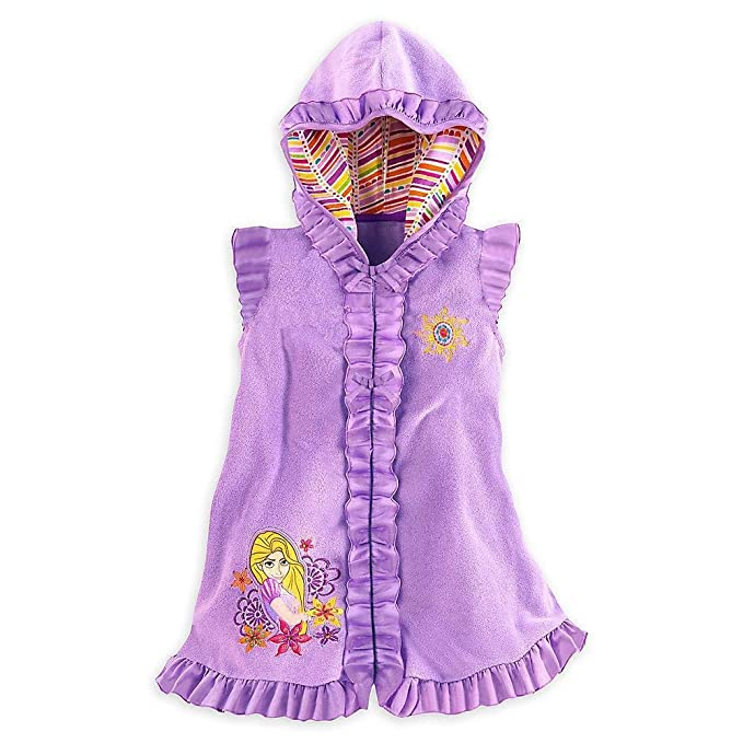 Disney Store Deluxe Rapunzel Tangled Swimsuit Cover Up Small 5 - 6 5T
