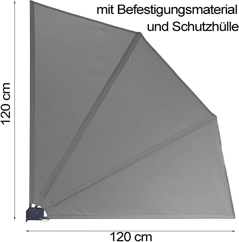 Grasekamp Qualitat Seit 1972 Balkonfacher 120 X 120 Cm Grau Mit