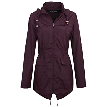 72c92903620 MyShoeStore Ladies Women Rain Mac Raincoat Showerproof Fishtail Cagoule  Kagool Kagoul Kag Festival Parka Jacket Hooded Lightweight Shower Proof Rain  Coat ...