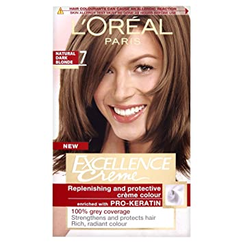 Loreal excellence permanent hair colour 7 natural dark blonde