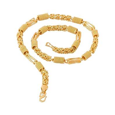 b1f3de3a72272 Voylla Chain Necklace for Men (Golden)(8907617240169)  Amazon.in  Jewellery