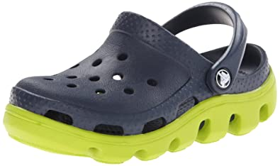 Crocs Duet Sport Kids Clog (Toddler/Little Kid),Navy/Volt Green