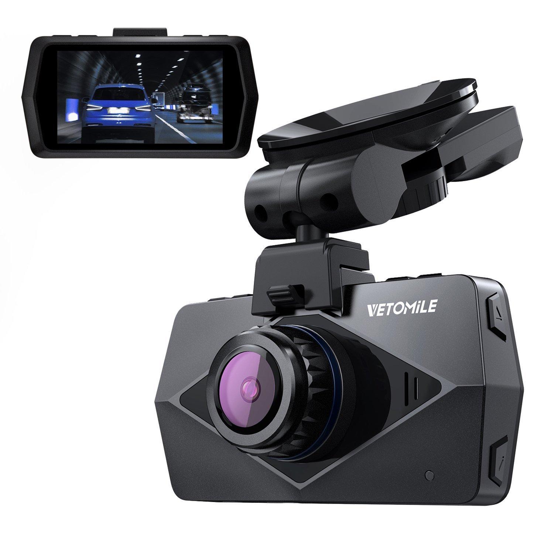 VETOMILE V2 Cá mara de Coche WIFI GPS 1440P Full HD Car Dash Cam Retrovisor DVR Grabadora Ví deo de G-sensor, Modo de Estacionamiento, Detecció n de Movimiento, Grabació n de Bucle, Sú per Visió n Nocturna