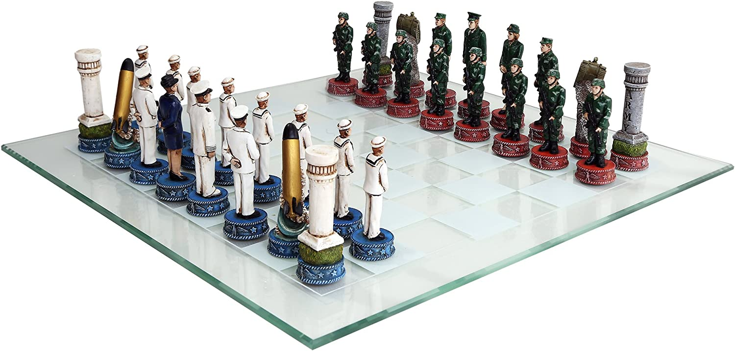 Thank You Gifts-Army Vs. Navy Chess Set