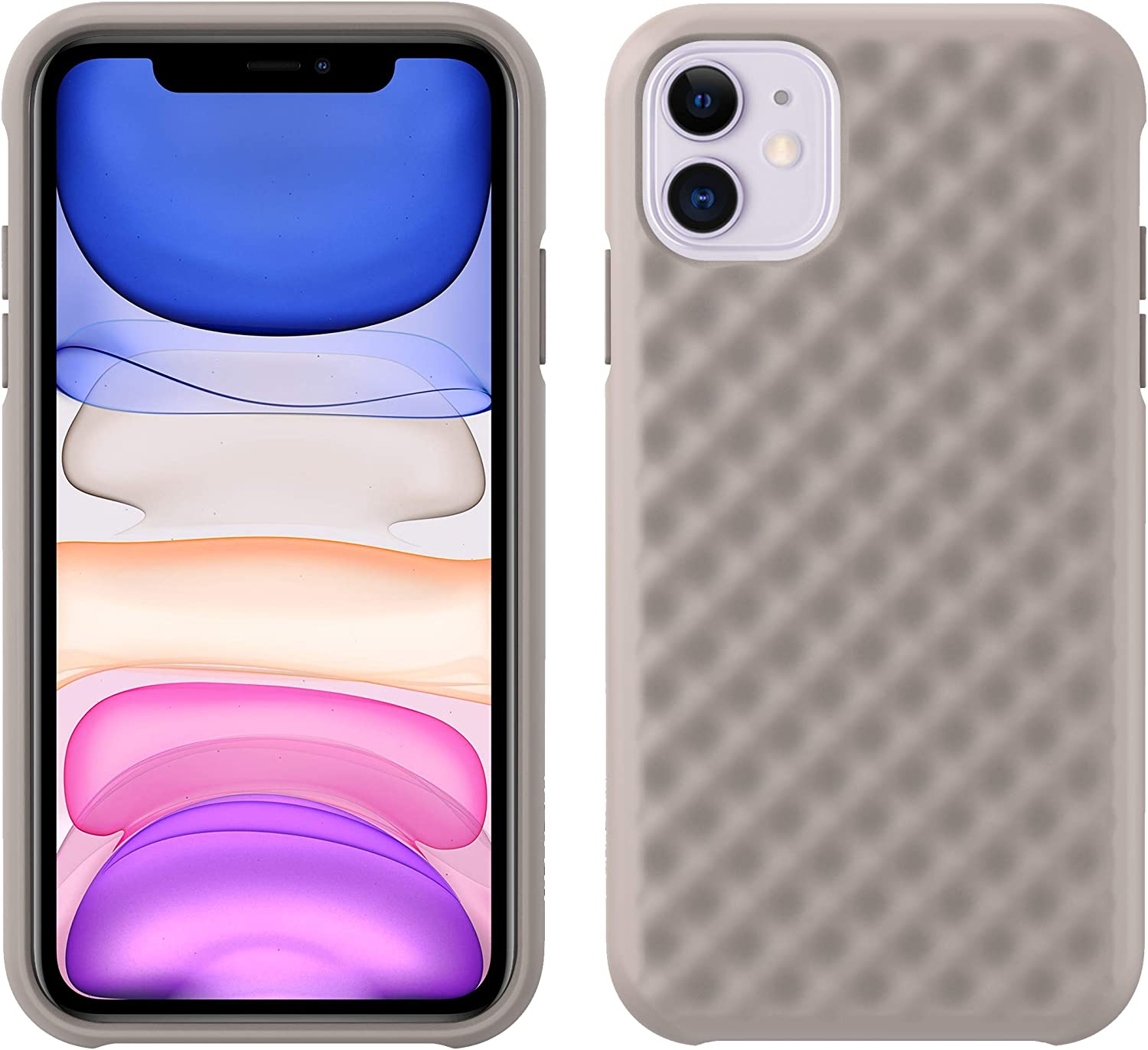 Pelican iPhone 11 Case, Rogue Series – Military Grade Drop Tested, TPU Protective Case for Apple iPhone 11 - Photoluminescent, Taupe