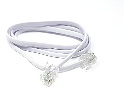 ADSL Broadband Modem Cable RJ11 to RJ11 BLACK 3m