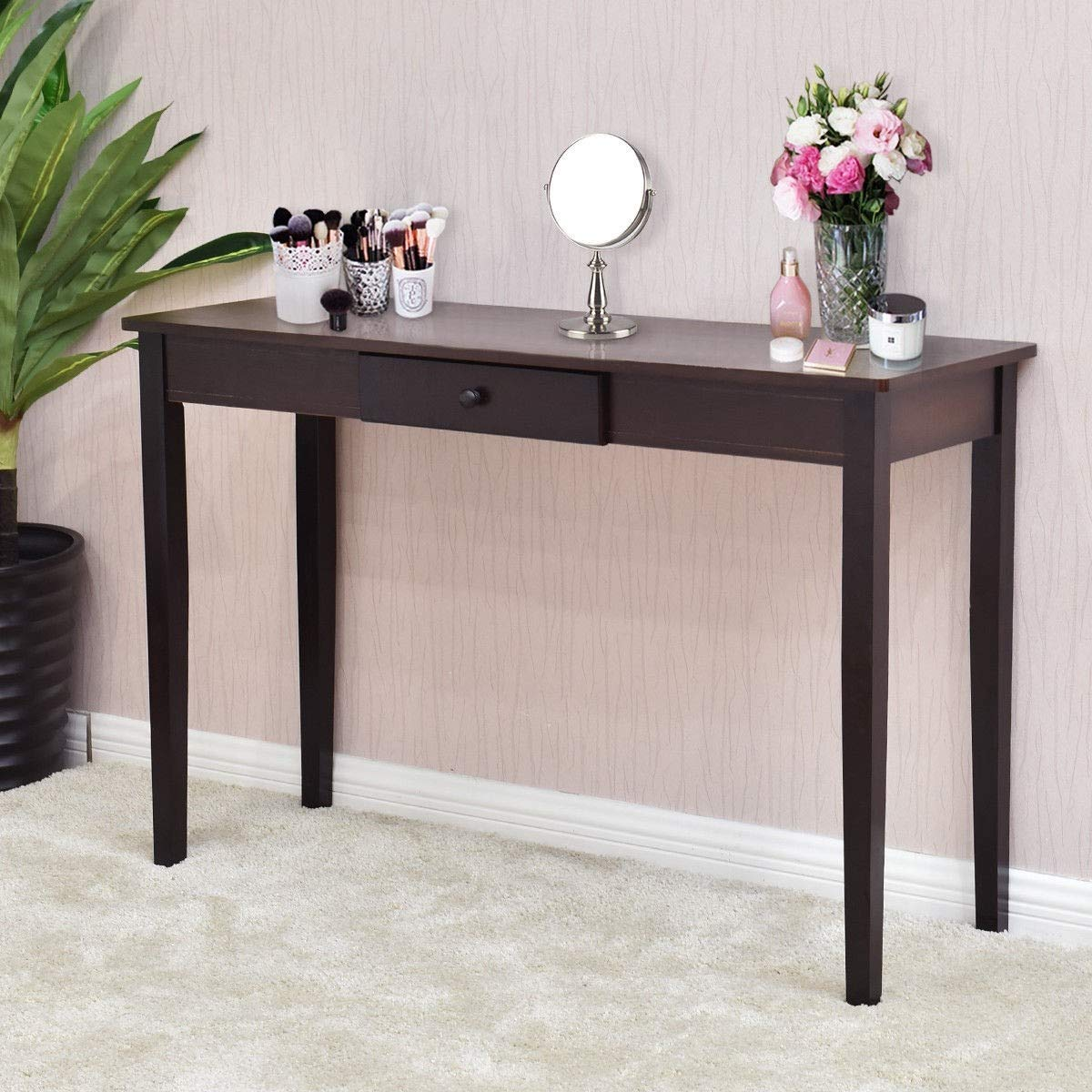 Amazon.com: Wood Entryway Side Sofa Accent Console Table ...