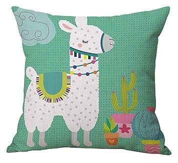 Amazon.com: Geepro 18 inch Llama Cactus Decorative Throw ...