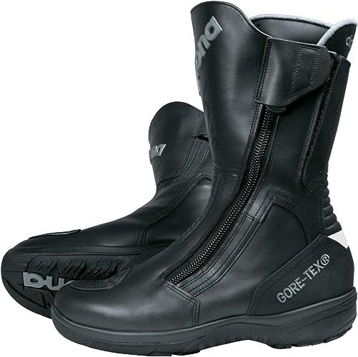 Daytona Boots Motorradschuhe Motorradstiefel Lang Road Star Gore Tex Stiefel Schwarz 50 Unisex Tourer Ganzjährig Leder Schuhe Handtaschen