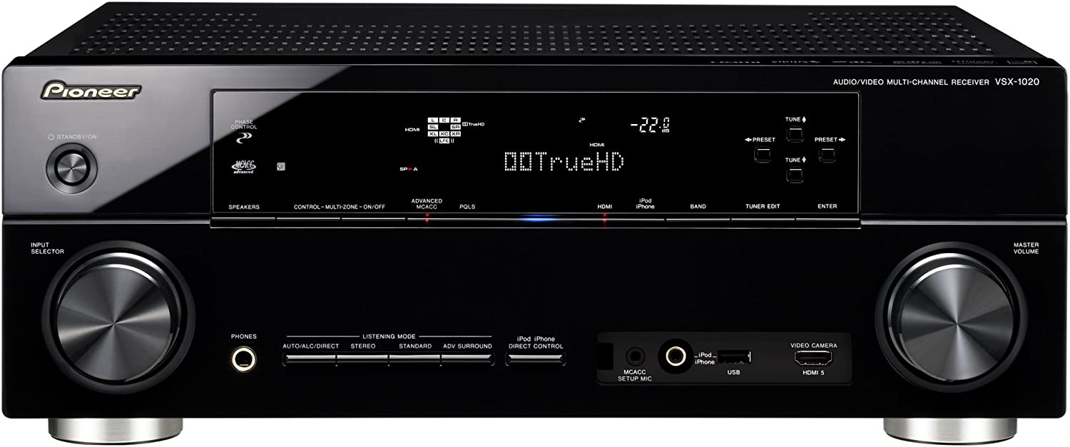 Pioneer VSX-1020-K 7.1 Home Theater Receiver (Discontinued by Manufacturer)