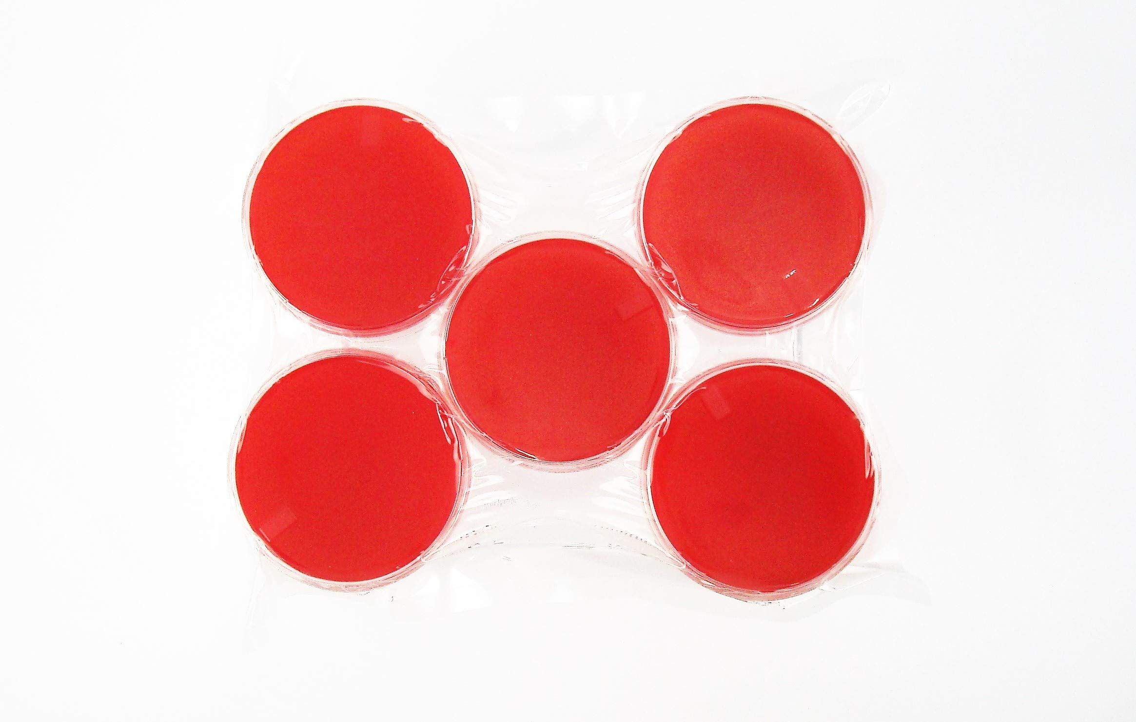 Red Blood Agar (RBA), (10-Pack) Tryptic Soy Agar with 5% Sheep Blood, Pre-Poured, Flat-Packed, Vacuum Sealed, 15x100mm Petri Plates. by Diamante Scientific