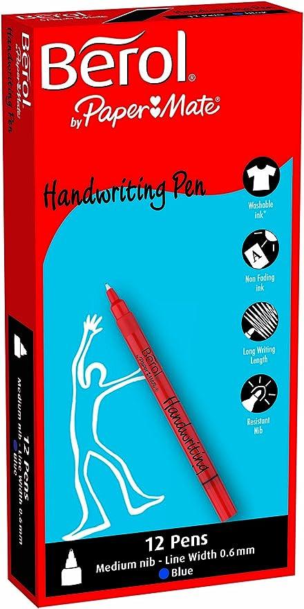 24 Black Berol Pens Broad Felt Tips Washable School Art Drawing Design Comic