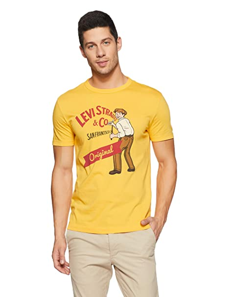 2670d96706 Levi s Men s Printed Regular Fit T-Shirt  Amazon.in  Clothing   Accessories