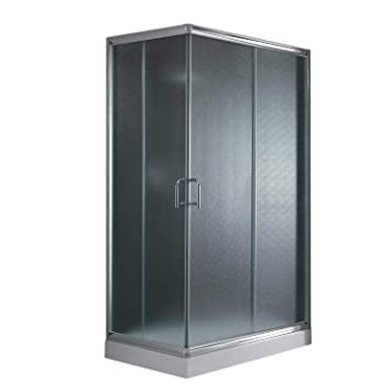 Cabine Paroi Douche 80x100 H200 Opaque 5mm mod. Alabama: Amazon.fr ...