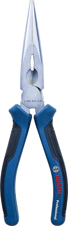 Chrom-Vanadium Stahl, gummierte Grifffl/äche Bosch Professional 180mm Kombinationszange