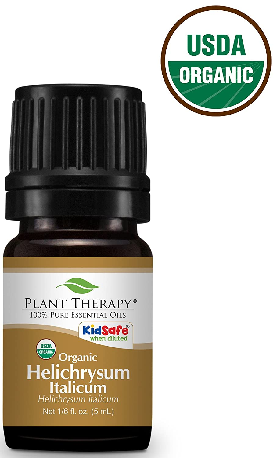 Plant Therapy Helichrysum Italicum Organic Essential Oil 2.5 mL (1/12 oz) 100% Pure, Undiluted, Therapeutic Grade Plant Therapy Essential Oils