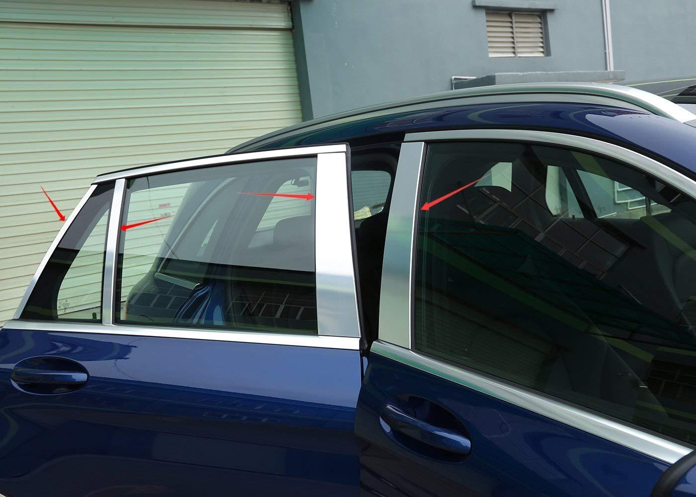 Accesorios exteriores de aleación de aluminio de carbono, 4 puertas, sedán pulido, kit de decoración para poste de pilar, marco de cubierta, accesorio para ...