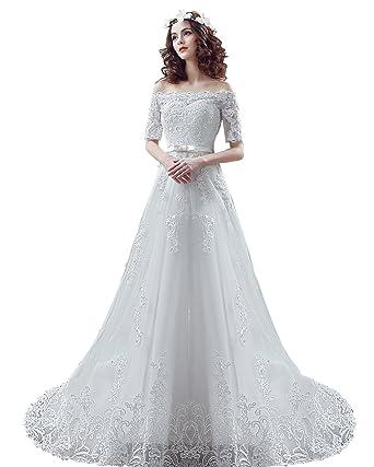 9ec7f69b18f3 robe de mariage blanc robe de mariée blanc bowknot robe ceremonie dentelle  blanche wedding dress Bandeau
