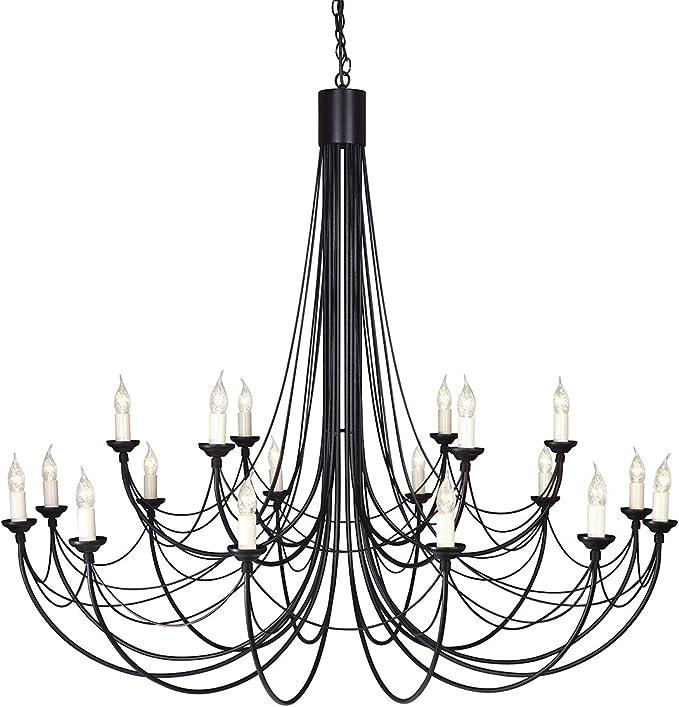 Elstead Lighting Carisbrooke 8 Light Chandelier Black