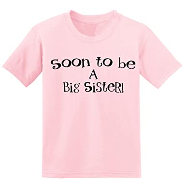 Ryware Soon to Be A Big Sister Girls T-Shirt (XS (3-