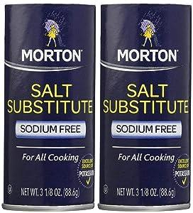 Morton Salt Substitute, 3.12 oz, 2 pk