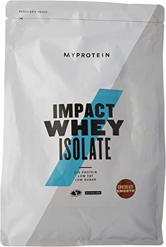 Myprotein Impact Whey Isolate Protein Powder, Gluten Free Protein Powder, Muscle Mass Protein Powder,Dietary Supplement for Weight Loss, GMO Soy Free, Whey Protein Powder, Chocolate Smooth 2.2 Lbs