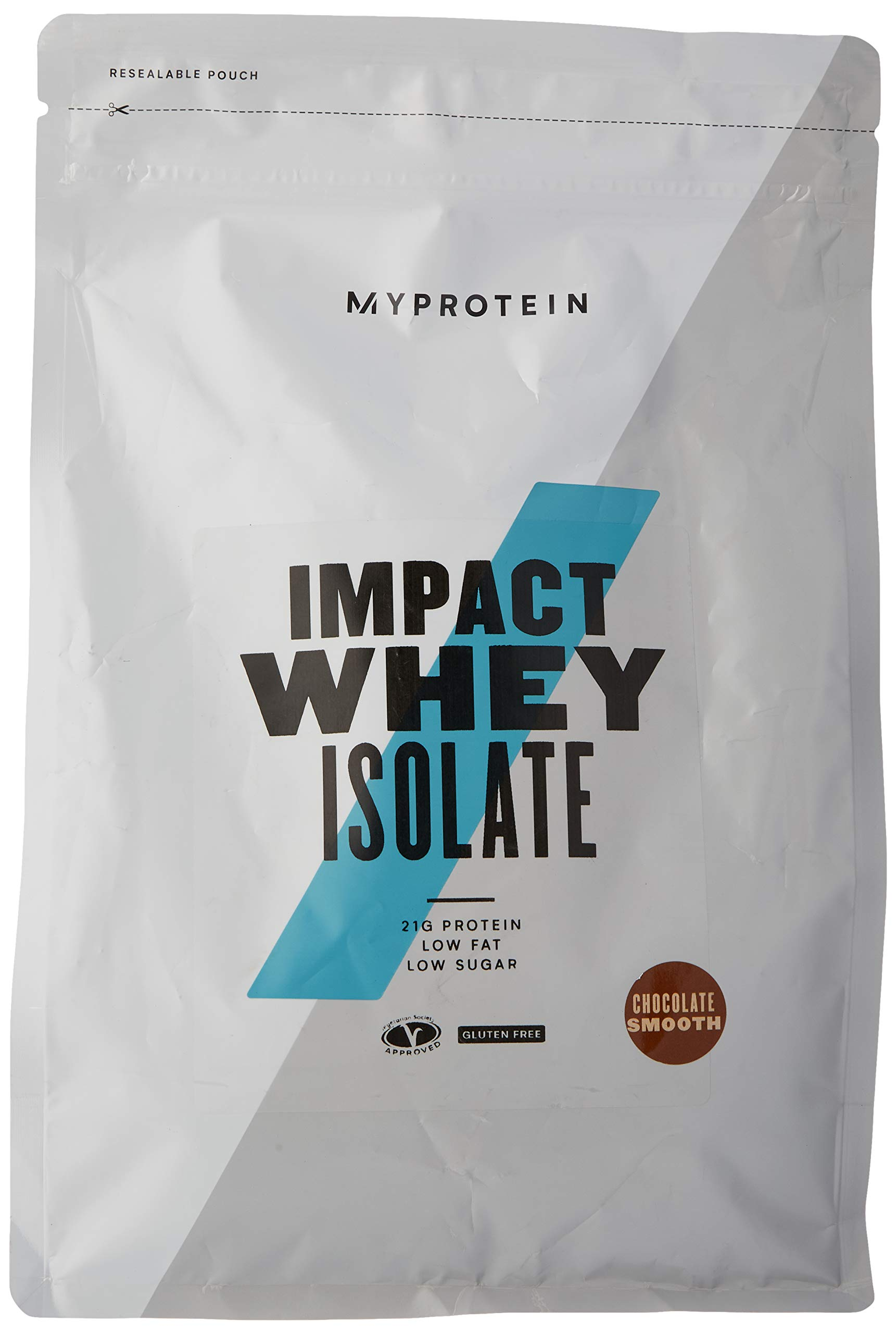 Myprotein Impact Whey Isolate Protein, Chocolate Smooth, (40 Servings), 2.2 Pound by Myprotein