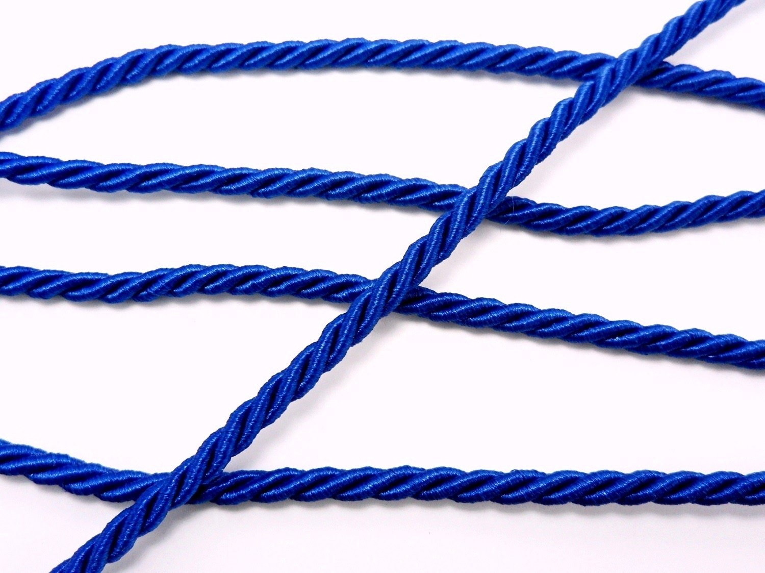 Royal Blue Shiny Twist Cord Choker Thread Twine String Rope Supplies Piping Anchor Bracelet Chain 3 Yards DIYcraft 34