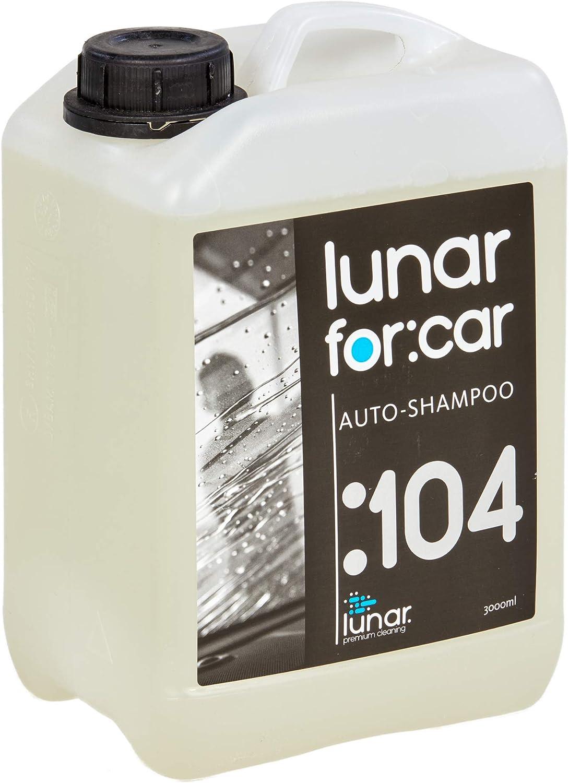 Lunar Premium Cleaning 3 Liter Autoshampoo Konzentrat Kanister Hoher Glanz Für Autos Motorräder Fahrräder Mit Auslaufhahn Dosierbecher Auto