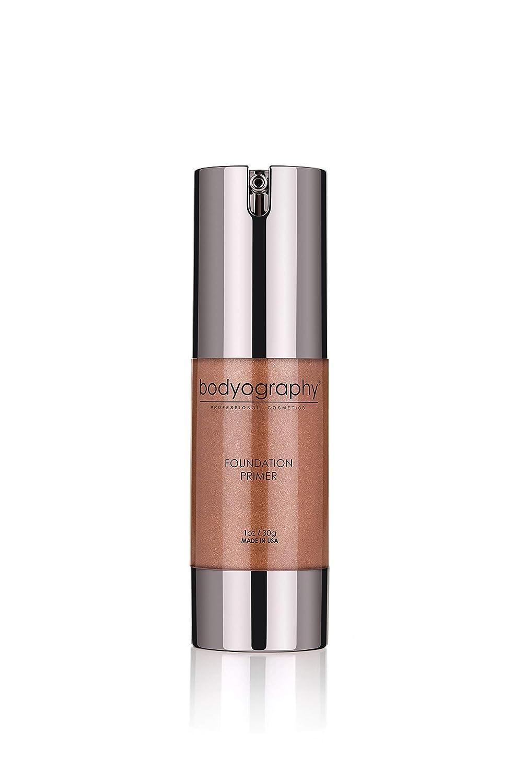 Bodyography Foundation Primer (Tahitian Glow): Bronzing Anti-Aging Salon Makeup Primer w/ Vitamin E, A, Jojoba, Grapeseed Oil | Enhance Your Natural Glow | Gluten-Free, Cruelty-Free
