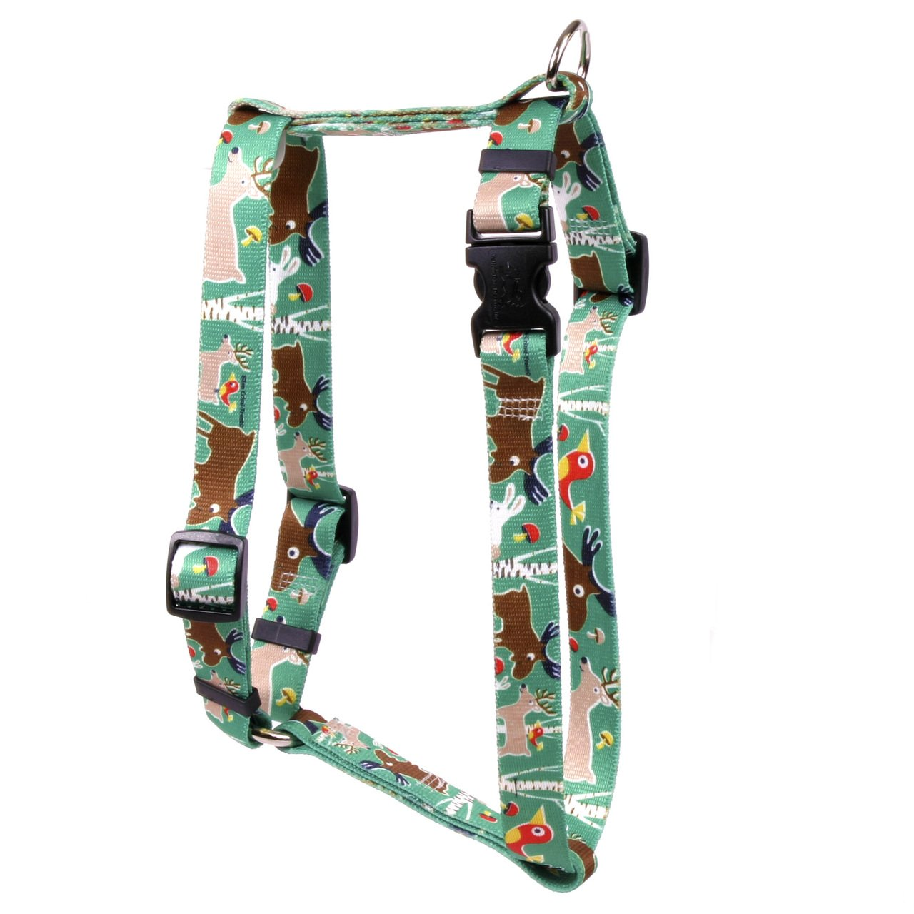 Yellow Dog Design Woodland Friends Roman Style H Dog Harness-X-Large-1'' and fits Chest 28 to 36''