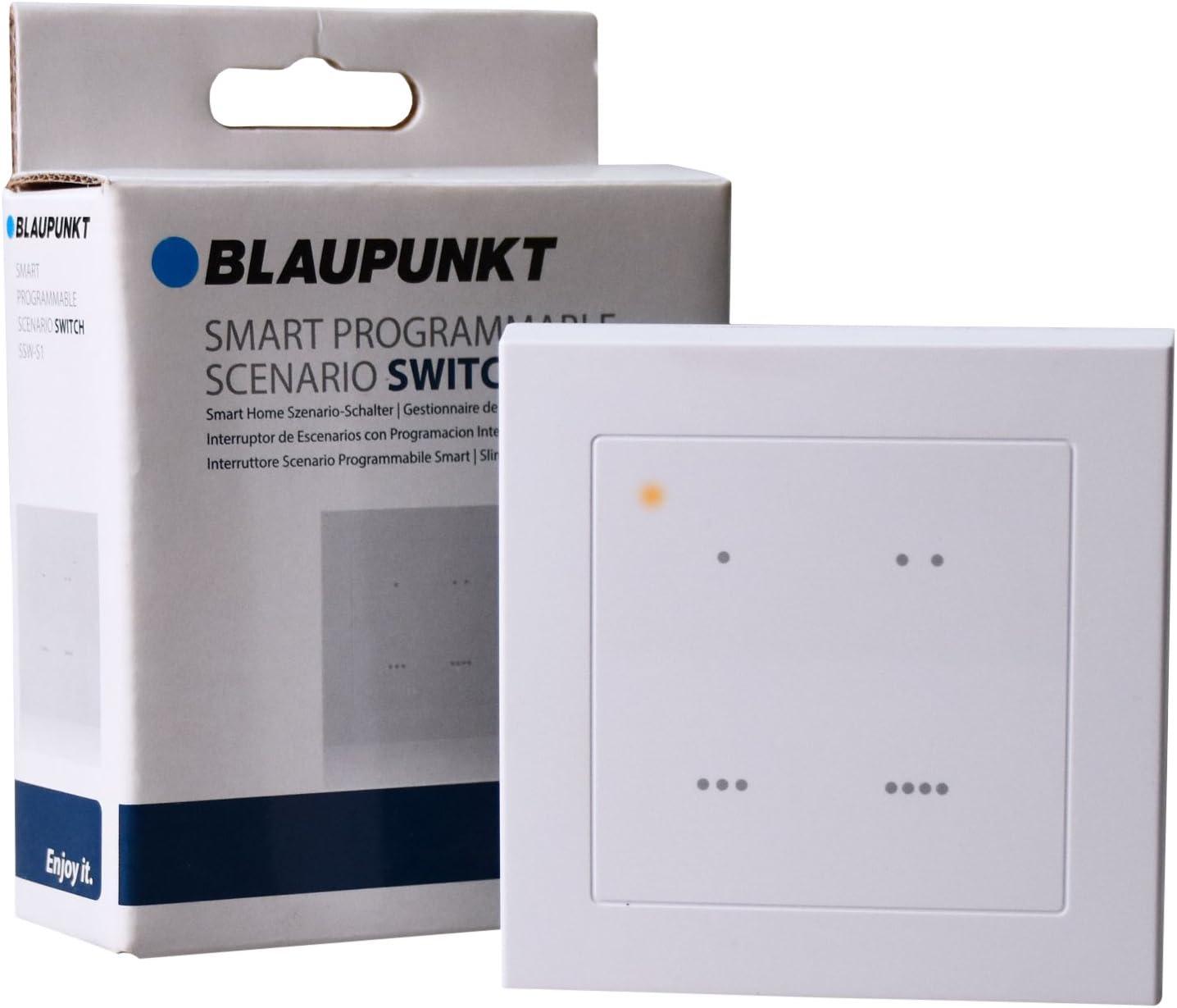 Blaupunkt Smart Home Zwischenstecker PSM-S1 I Zubeh/ör f/ür die Q-Serie von Blaupunkt I Hausautomation I Fernsteuerung von Elektroger/äten per App I Steckdosensteuerung I 1 St/ück I Wei/ß