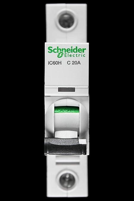 Schneider Domae 16Amp Type B Single Pole 6kA Circuit Breaker MCB