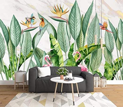 Papel Pintado Tropical Rainforest Plant Animal Wallpaper