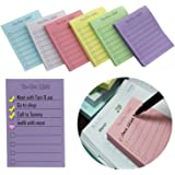 """EHME Super Sticky Notes 3""""x4"""",The To Do List Notepad,Easy Post Lined Notes,6 Pad/Pack,100 Sheet/Pad,Six Colors"""