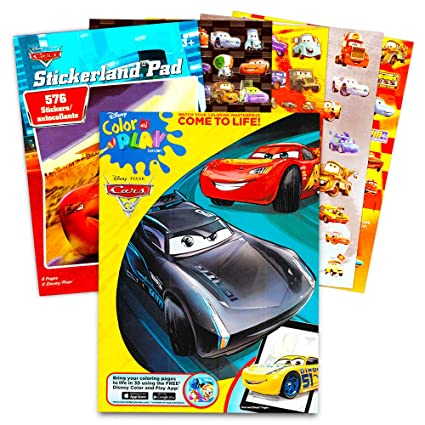 Amazon.com: Disney/Pixar CARS Coloring Book with Stickers \