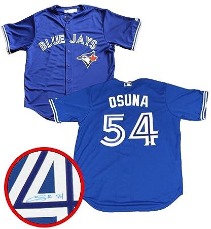 separation shoes 88dc7 3d61f Frameworth Roberto Osuna Signed Jersey Toronto Blue Jays ...
