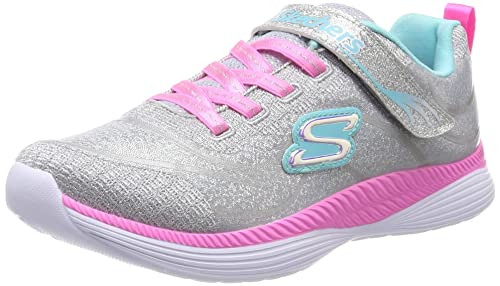 Skechers Move n Groove, Zapatillas para Niñas, Gris (Grey Mint Gymn)