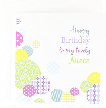 Amazon Happy Birthday My Lovely Niece Colorful Dots On White