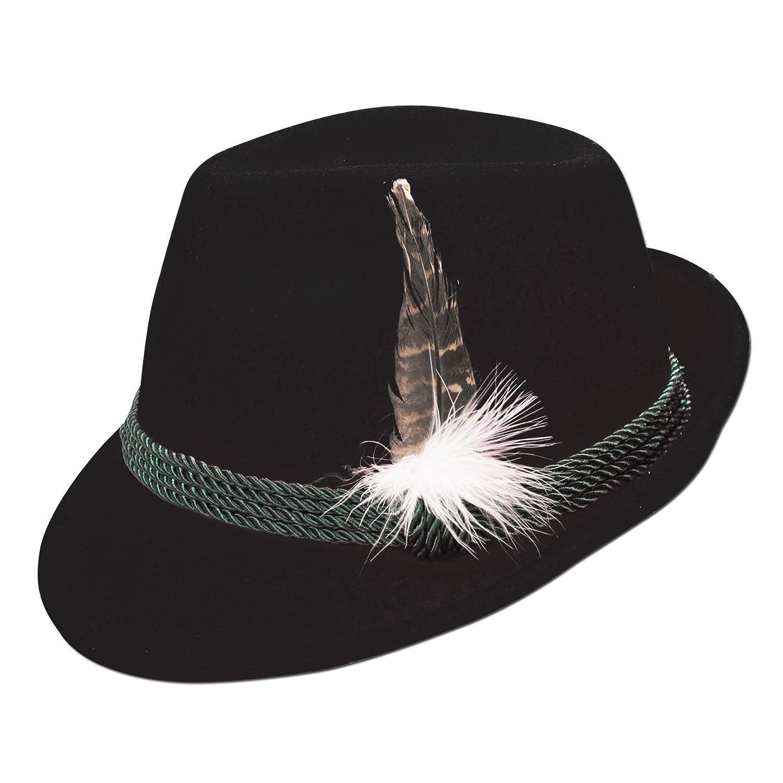 Alpenflüstern Damen Trachten-Filzhut mit Hutfeder ADV02500M00 schwarz