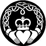 "Metal Wall Art Sculptures 24"" Celtic Claddagh Ring Plaque Figurine Love Friendship Loyalty Irish Home Decor"